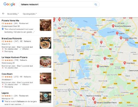 google maps lokale zoekopdracht