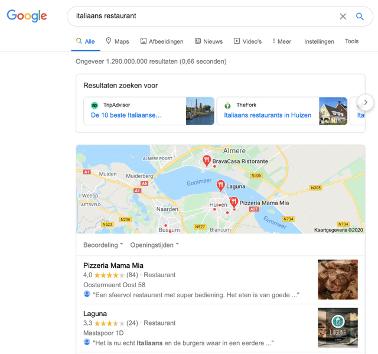 google zoeken bedrijf